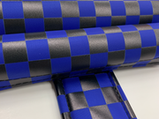 black blue checker bmx pads on smooth nylon