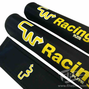 CW Racing Black and Yellow BMX Pad Set