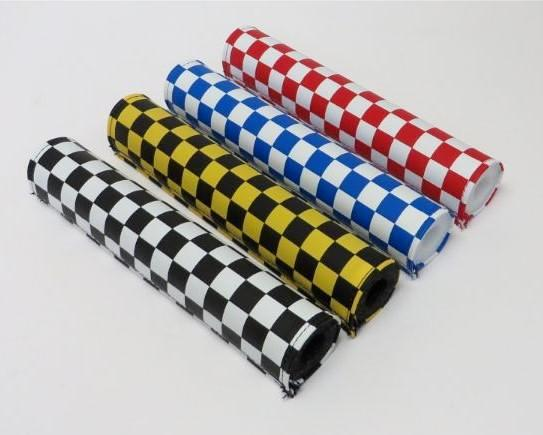 Checkers Frame pad black blue red yellow