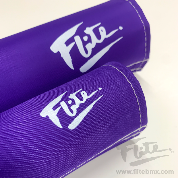 80's Logo Purple Flite BMX Pad Set