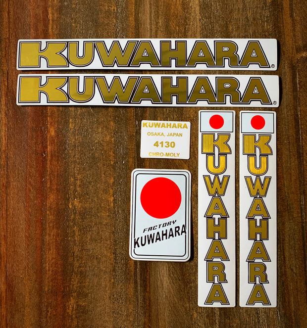 gold kuwahara kz-01 decal