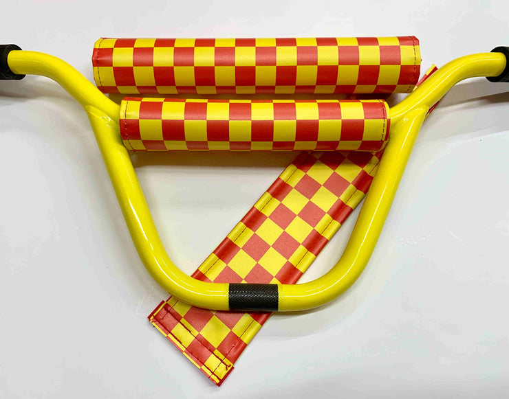 Classic Checkers Yellow and Red BMX Pad Set by Flite