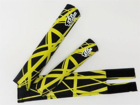 Flite Panama BMX Pad Set - Black & Yellow, Van Halen Inspired