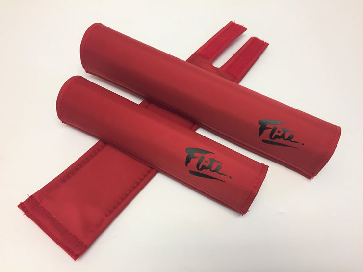 Red with black solid color bmx padset 80's style from Flite BMX