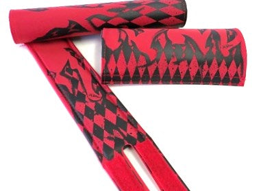 red and black shredded pad set by Flite BMX