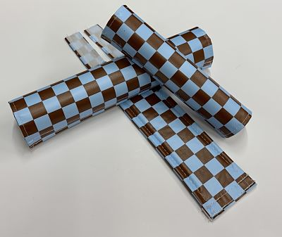 Classic Checkers Light Blue and Brown pad Set
