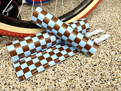 se blue brown bmx padset by flite
