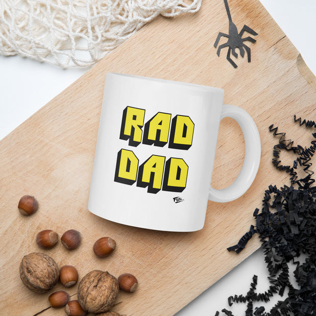 Rad Dad Coffee Mug Yellow