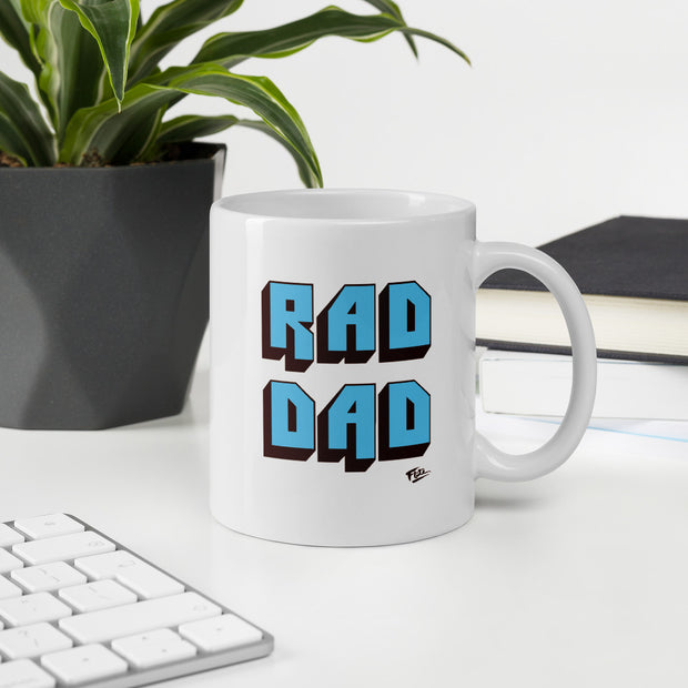 Rad Dad Coffee Mug Light Blue