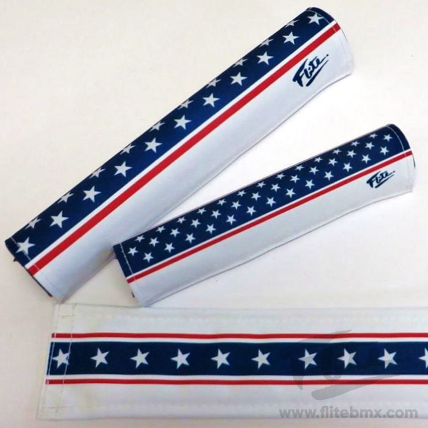 Stars and Stripes Forever BMX Padset - Evel Kneivel Tribute