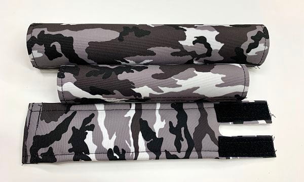 black white gray camo bmx pad set
