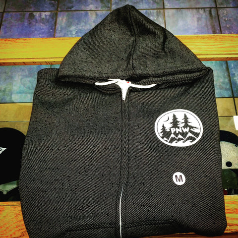 PNW Badge Zip Up Hoodie