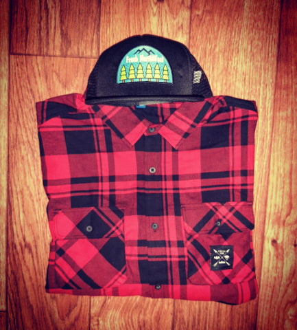 Flannel & Hat Combo