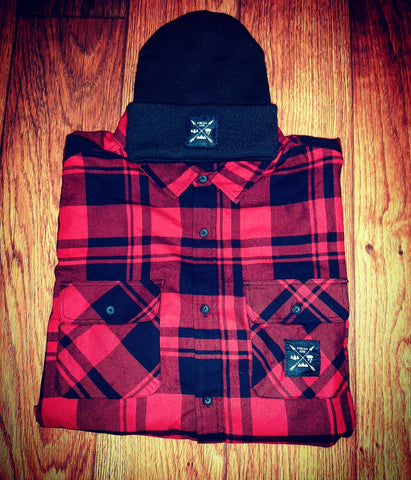 Flannel & Beanie Combo