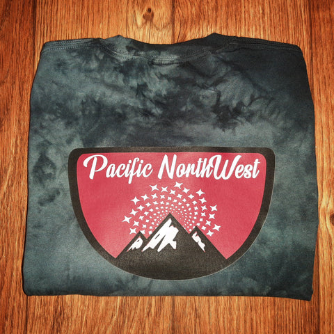 Crystal Dyed PNW Stars Tee