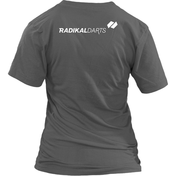 RadikalDarts Women's V-Neck - Back Logo Placement