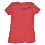 Radikal Darts - Premium Triblend Tee  - Womens Cut - Back Logo Placement