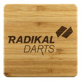 Radikal Darts Bamboo Coaster Set