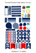 Custom Colored Functional Planner stickers - Functional Sticker Kit -