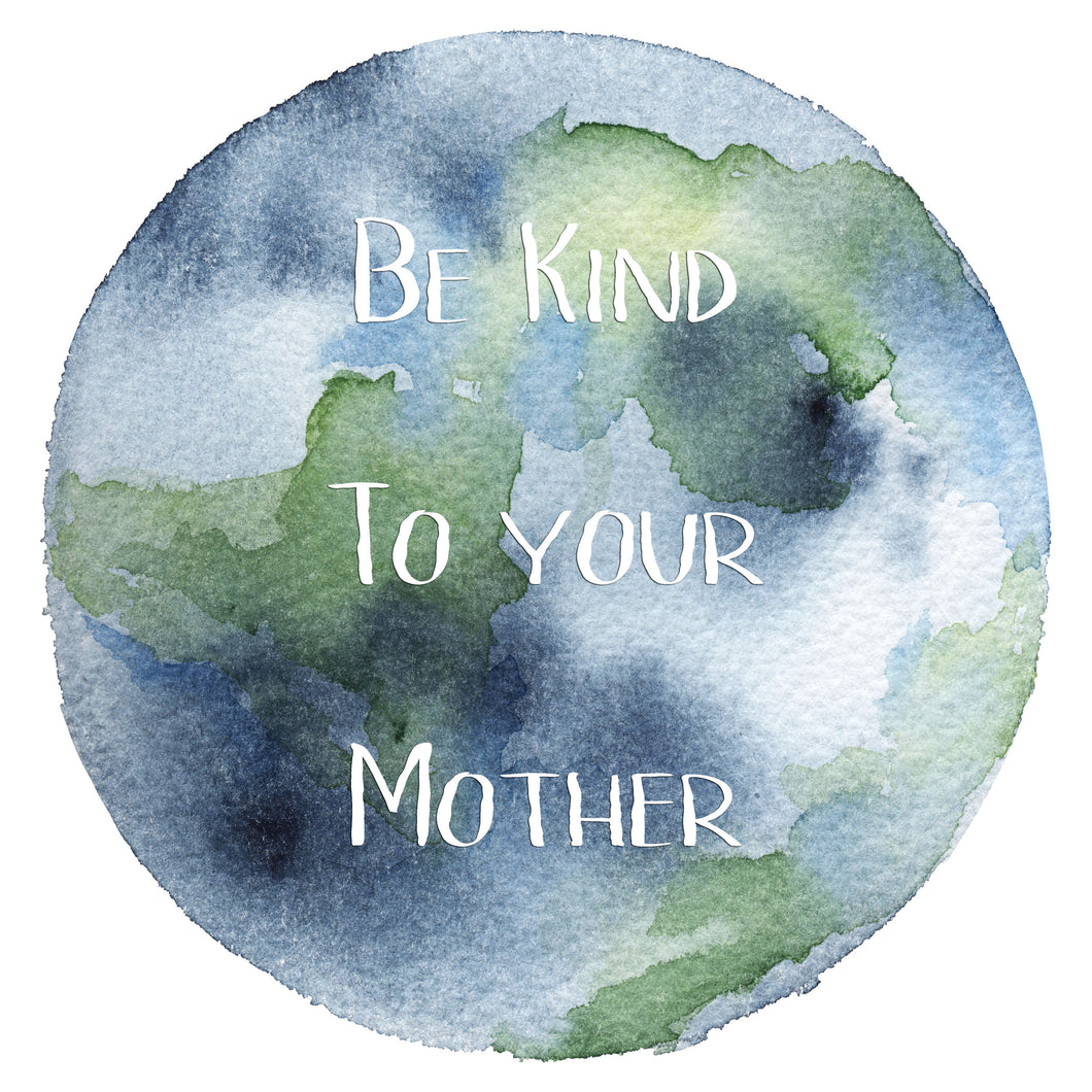 Earth Day - Decal -  - Watercolor - Sticker - DisorderlyPlanner