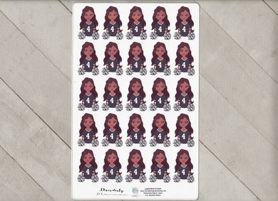 Custom Character Decorative Football Sports Sheets cheerleader