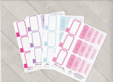 Write in Nursing School Custom Colored Planner Stickers