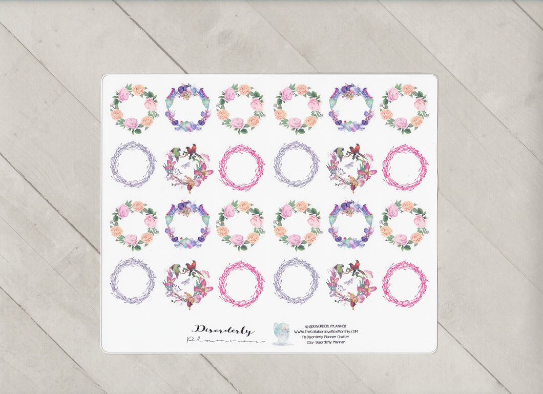 Copy of Whimsical Wreath Decorative Stickers