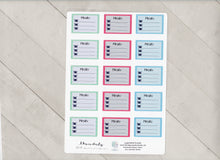 Disorderly Planner Custom Colored Meal Planner Kit - Planner stickers - Functional Sticker Kit -
