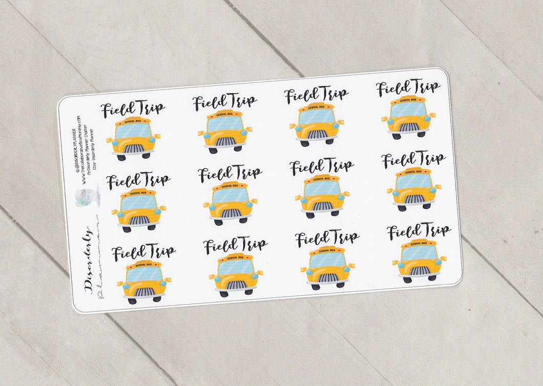 Field Trip School Stickers