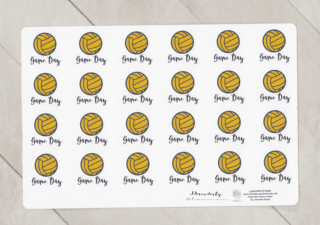 Waterpolo Functional Script Stickers
