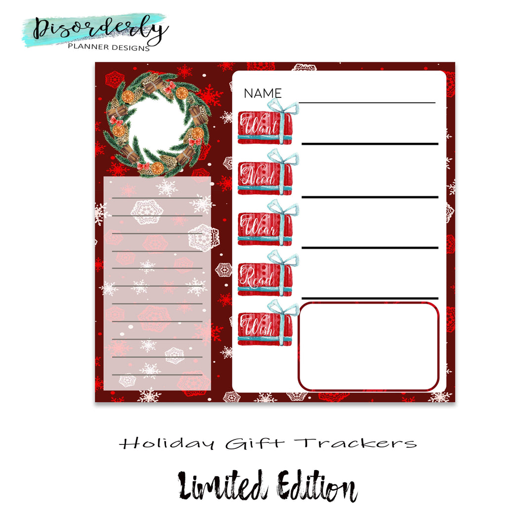 Holiday Gift Trackers