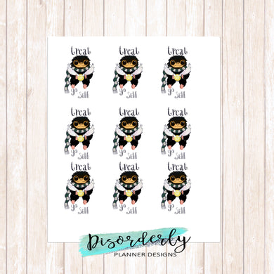 Harry Potter Themed Niffler Treat Yo Self Stickers