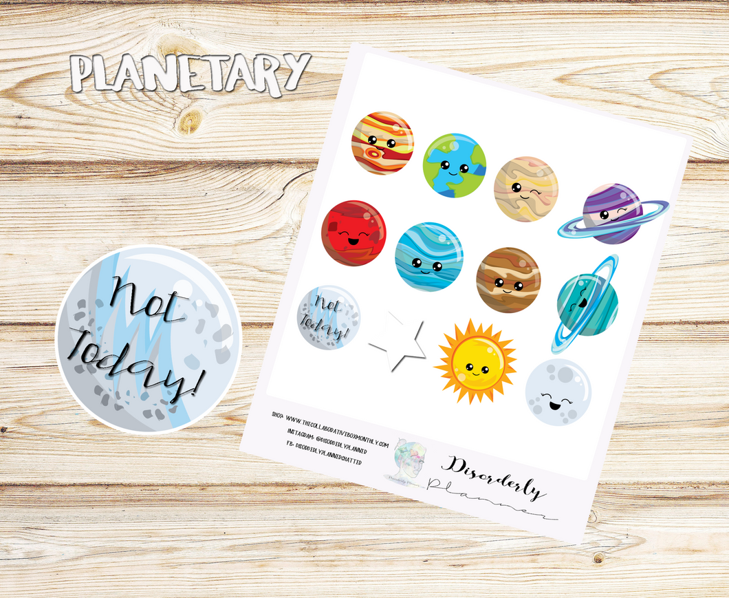 Galaxy Stickers,Solar System Stickers, Planet Stickers-Space