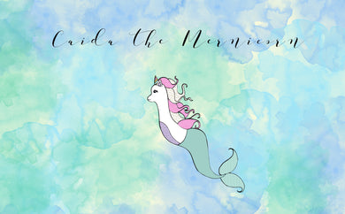 Caida the MerLlamicorn - Mermaid Stickers - Unicorn - Merllama stickers