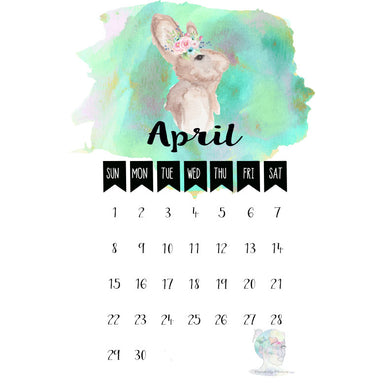 April Calendar Freebie Printable Lists Personal Use Only