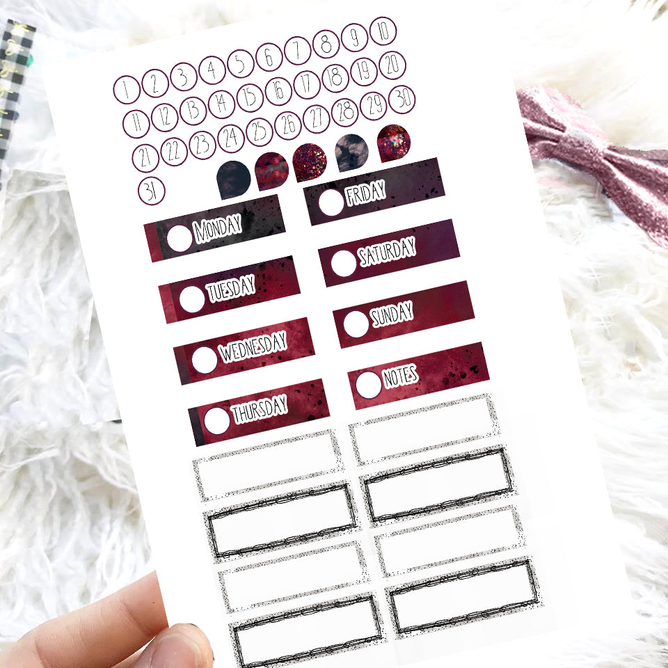 Beetlejuice Inspired kit - Sticker Bundle