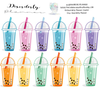 Boba Decorative Stickers