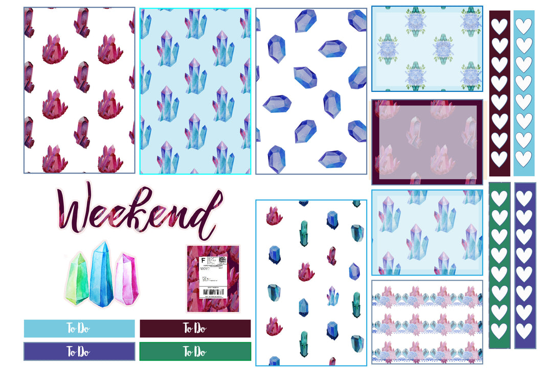 Crystal Week mini sampler- Disorderly Planner -