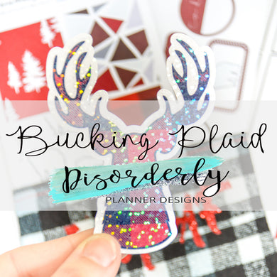 Bucking Plaid Sticker Pack