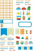 Plan like me Micro kits Children's planner stickers - Camping