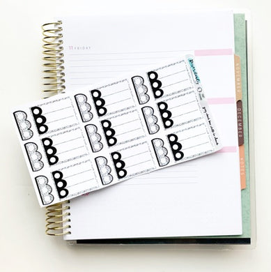 Custom Colored Cloud Write Ins - Checklist Boxes and mini check lists