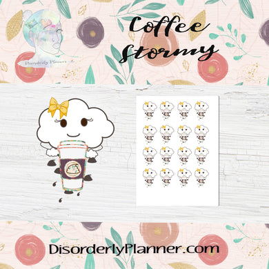 Coffee Shit Storm Stickers