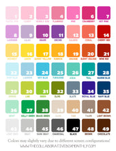 Custom Colored Flag Tracker Planner Kit - Planner stickers - Functional Sticker Kit -