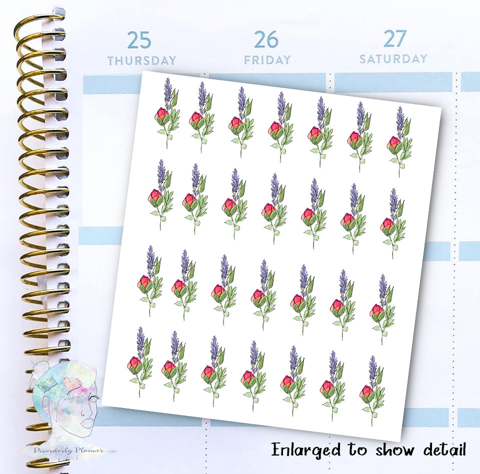 Rose & Lavender - Decorative Stickers