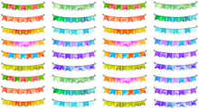 Weekend Banners - Planner Stickers - Disorderly Planner - Buntings- Functional - Decorative