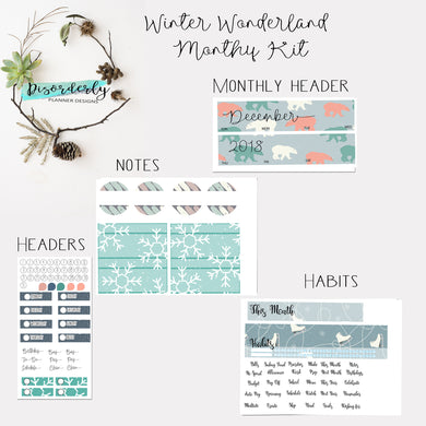 December Monthly View Kit- Winter