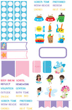 Plan like me Micro kits Children's planner stickers - Fairies