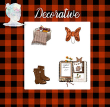 Holiday Decorative Stickers and Die Cuts -Fall