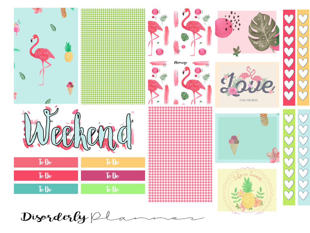 Flamingo Love Week mini sampler