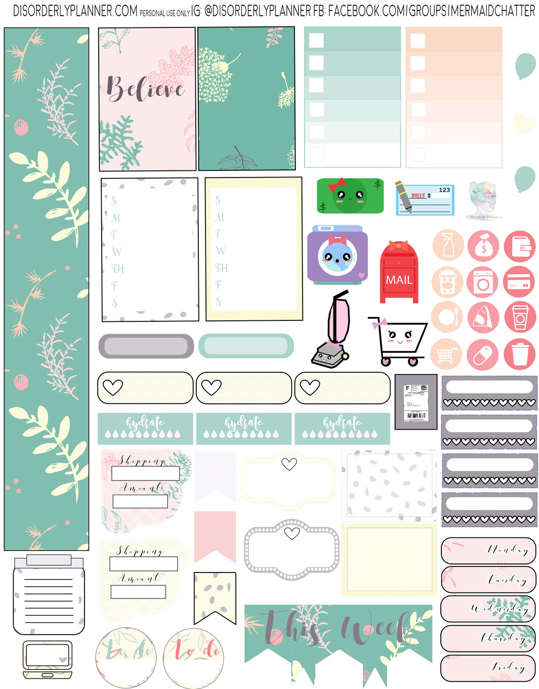Fresh Printable Planner Stickers